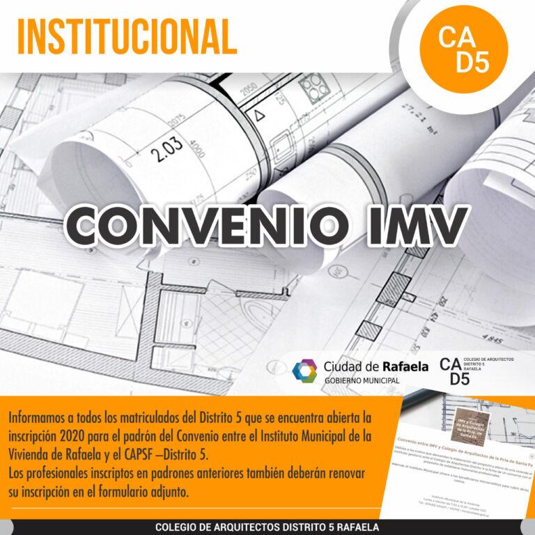 Convenio IMV 2020