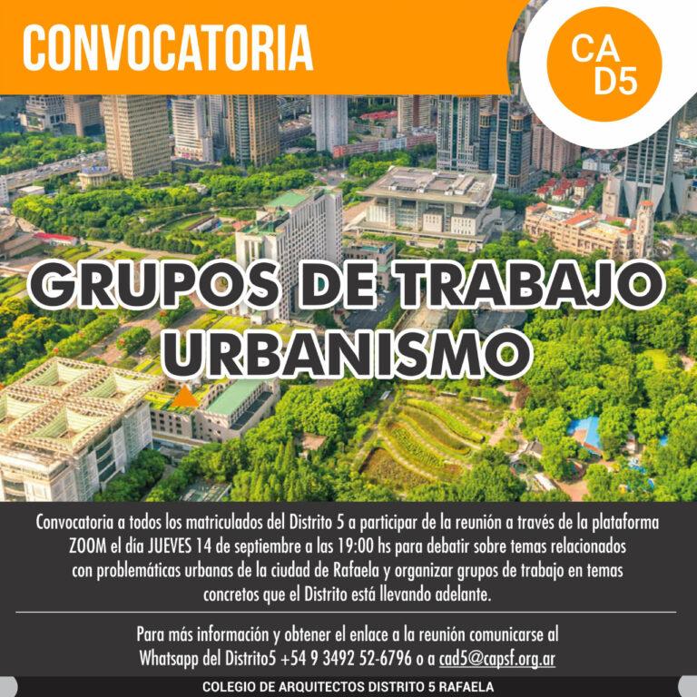Grupos de Trabajo – URBANISMO