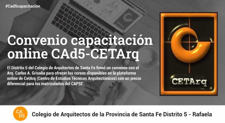 Convenio de Capacitación online CAD5-CETArq