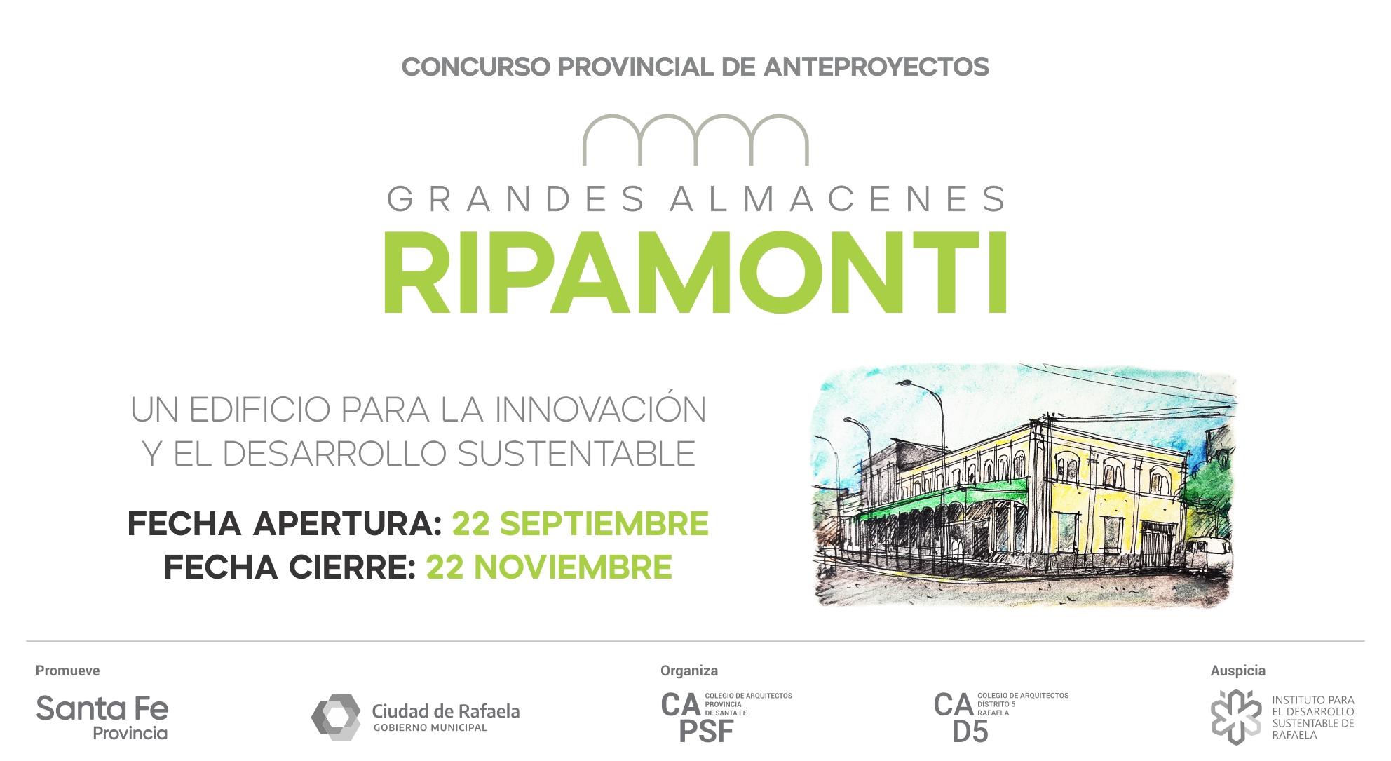 """Concurso Provincial de Anteproyectos REHABILITACIÓN y PUESTA EN VALOR de los Ex """"GRANDES ALMACENES RIPAMONTI"""""""